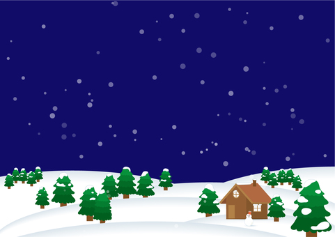 Snow scenery background