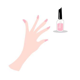 Nail pink