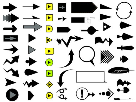 Arrow cursor set vector