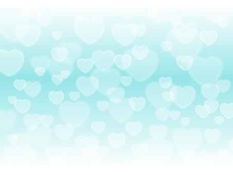 Heart light, light blue