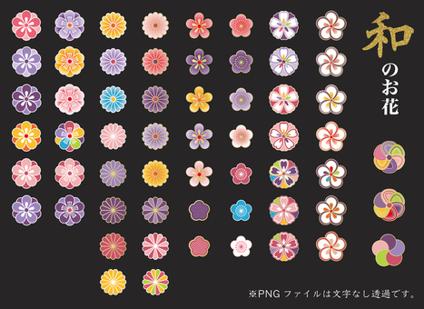 Japanese flower collection