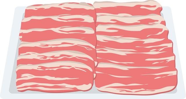 Food Series Meat Pork Roses Slice