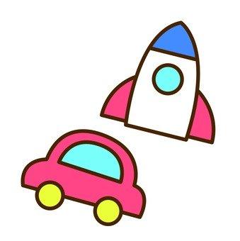 Rocket and Car