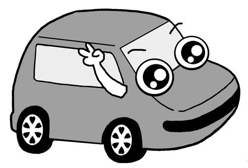 Monochrome car