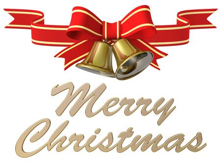 Merry Christmas Bell Ribbon 3