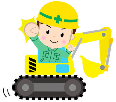 Construction worker (excavator car)