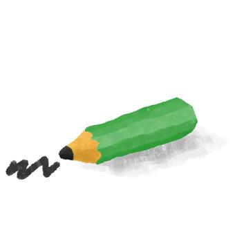 Pencil watercolor painting