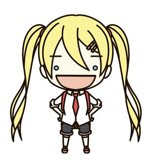 Deformation ① Elementary school student (female child 01)