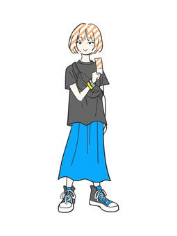 라이브 여자 (블루)