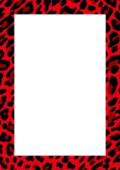 Background frame _ leopard pattern _ red