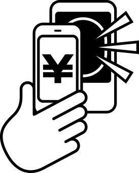 Electronic money cashless smartphone