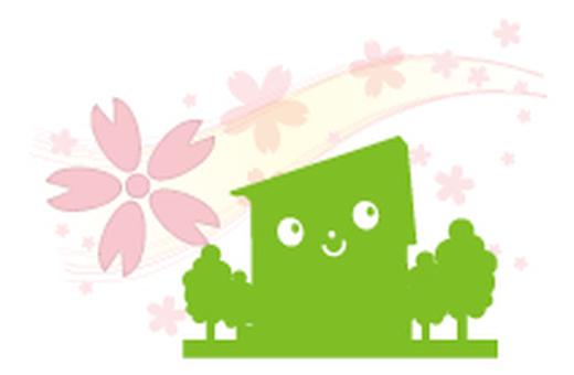 Cherry blossom dwelling _ green