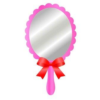 Pink hand mirror