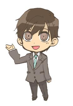 Male employee Chibi character style