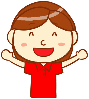 "Polo shirt woman (smile) ""Red"""