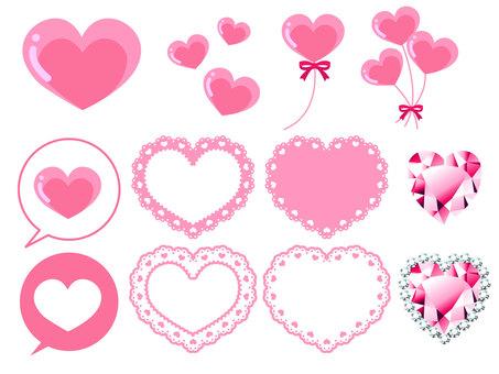 Various heart materials · Pink
