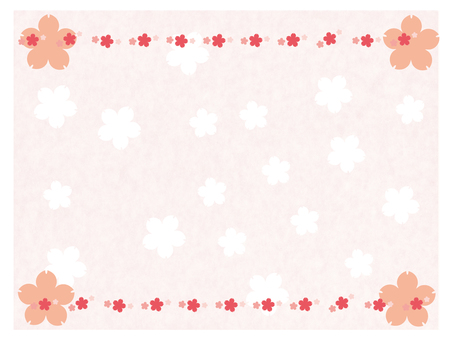 Cherry blossom message card