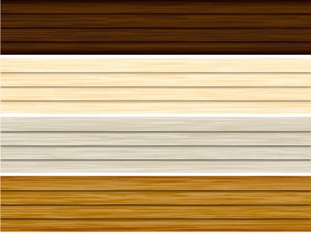 Four kinds of wood grain