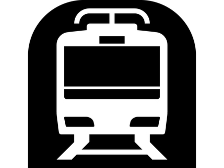 Front silhouette of the subway