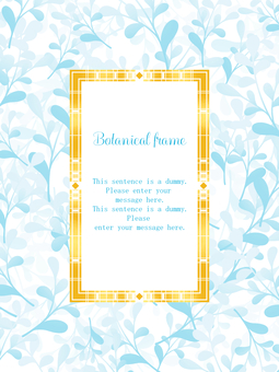 Botanical Frame 03 / Blue