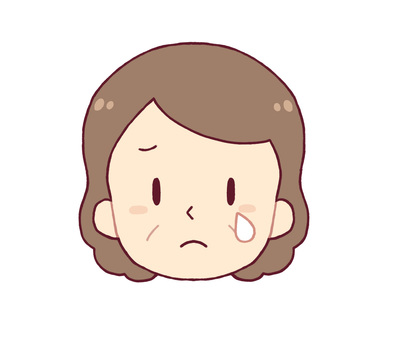 面部表情 - 哭泣(中年女性)