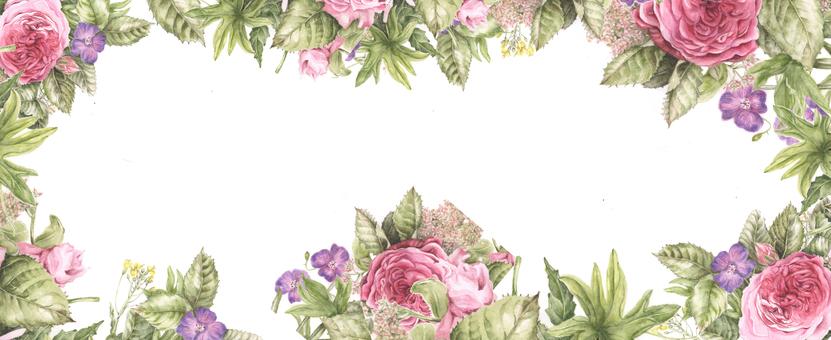 豪华玫瑰框架 - 花框架
