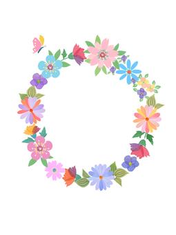 哈娜,花框架