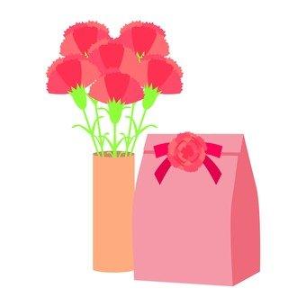 카네이션과 선물