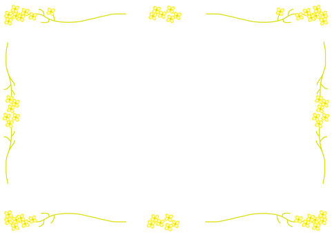Spring frame (Rape blossoms)