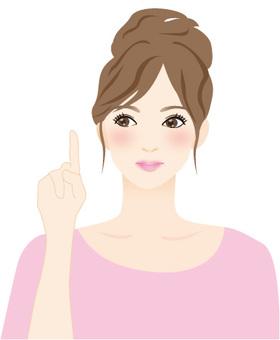 Index finger female pink