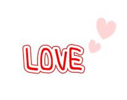 """""""LOVE"""" and a small heart"""