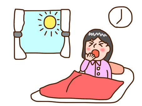 Waking up girl