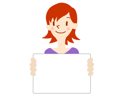 Woman with whiteboard