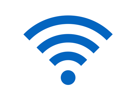 Wi-Fi icon silhouette blue