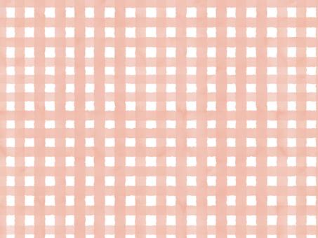 水彩チェック(中)ピンク