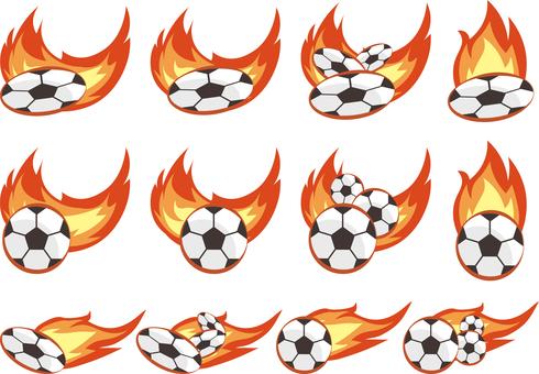 Flame shoot set