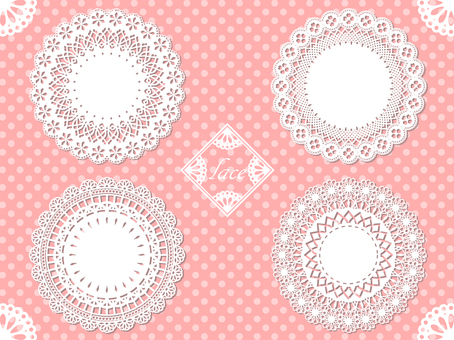 Lace material 02