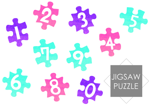 Jigsaw puzzle type figures