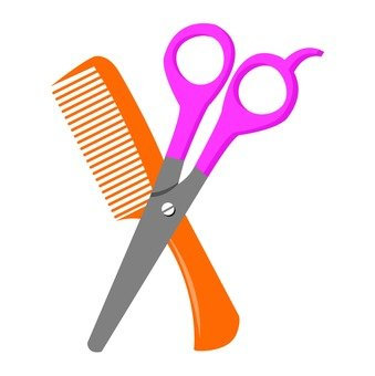 Scissors and a comb