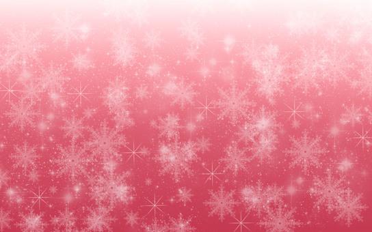 Snow Crystal Christmas Red