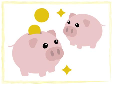 Pig piggy bank - pig-