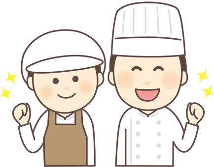 Cooking staff Gender pairs _ Apron