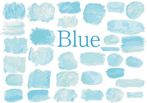 水彩藍色藍色水彩
