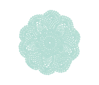 Hand drawn lace * green