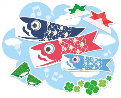 Koobori Main Children's Day Illustration