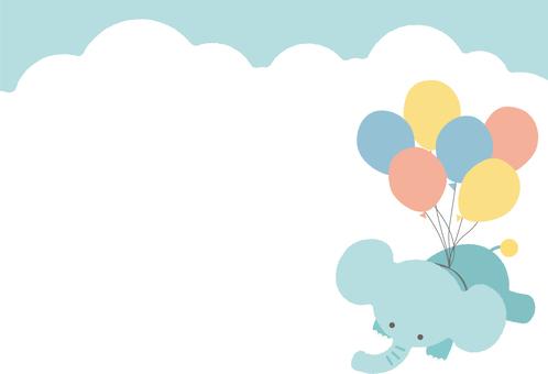 飛行飛行的大象