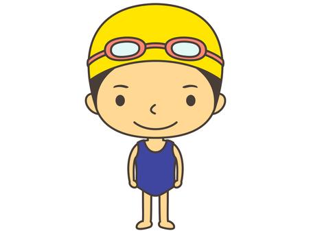 Swimming person B1