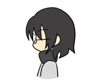 Profile of eyeglasses