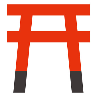Shrine Mark ☆ Torii icon ☆ Map data material