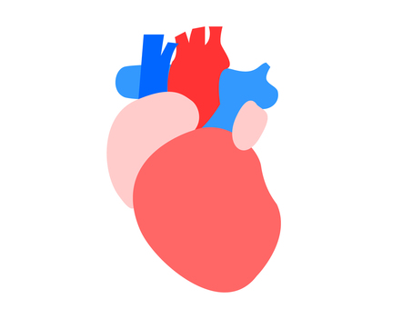 Heart image illustration without line